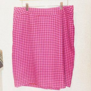 Pink Hounds tooth pattern Straight Skirt by Merona
